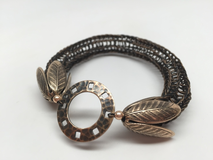 Knitted Beading Wire Bangle